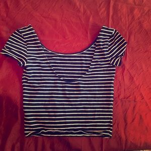 American Eagle Stripped Crop Top- XS